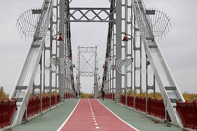 The pedestrian bridge in Kiev