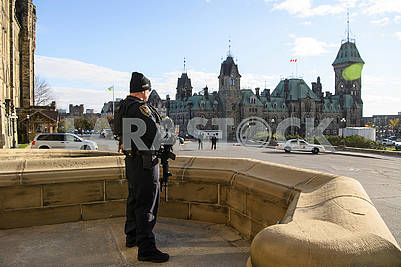 Guard at the Parliament of Canada