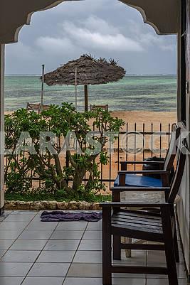 Terrace on the beach
