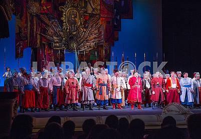 Scene from the opera Taras Bulba