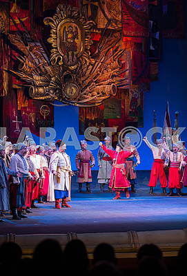 Scene from the opera Taras Bulba