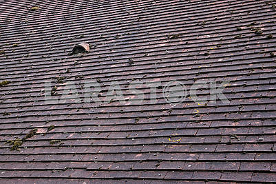 Tiled roof with small window