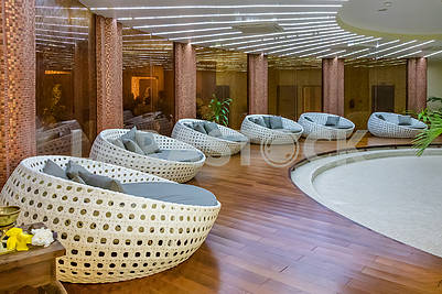 Hotel lobby in Zanzibar