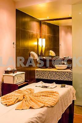 Interior of a bedroom in a hotel in Zanzibar