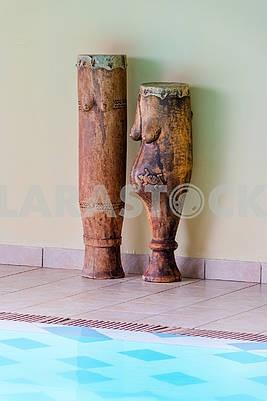 Sculptures in a hotel in Zanzibar