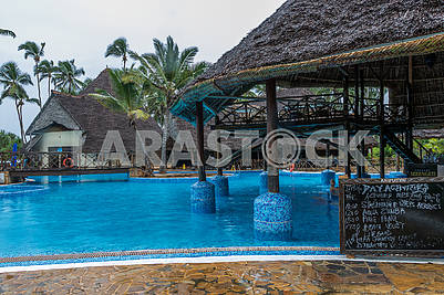 Swimming pool at the hotel in Zanzibar