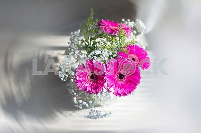 Beautiful bouquet with pink gerberas