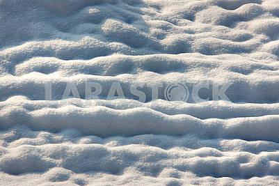 Снег в солнечный день
