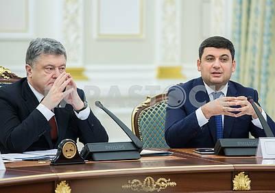 Peter Poroshenko and Vladimir Groisman