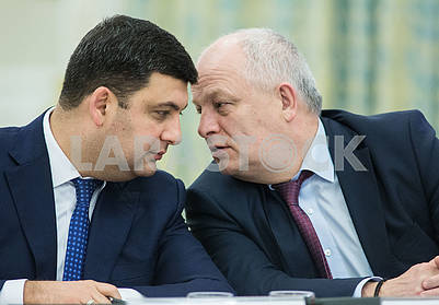 Vladimir Groysman and Stepan Kubiv