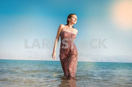 woman in sea