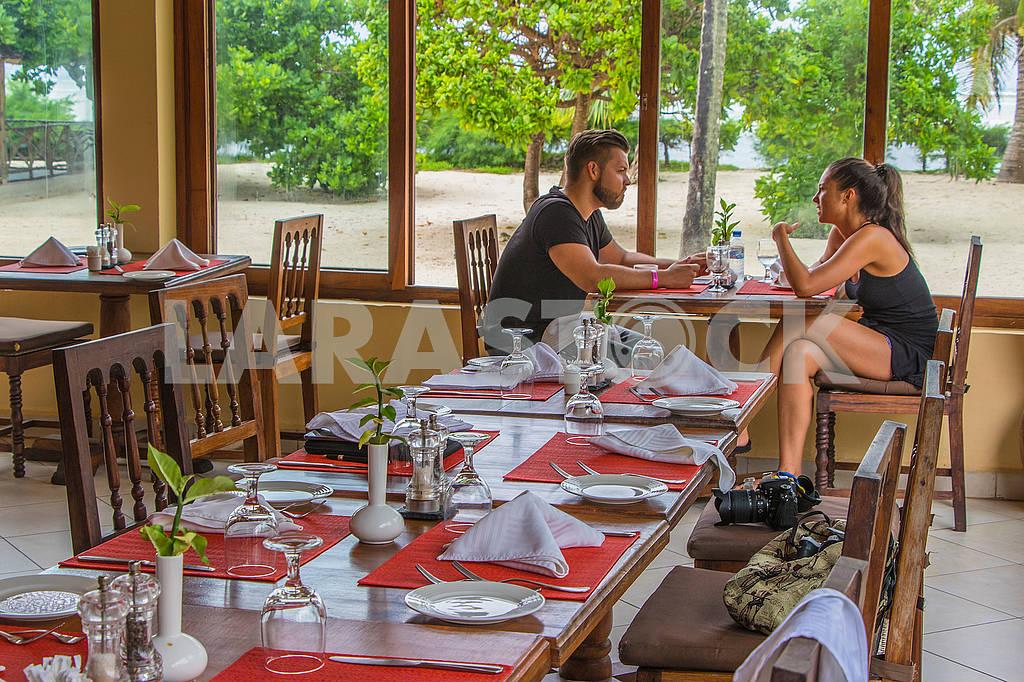 Interior of the restaurant in Zanzibar — Image 65171