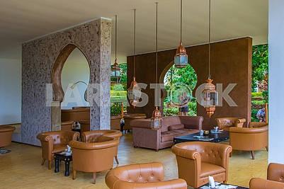 Hall at the hotel in Zanzibar