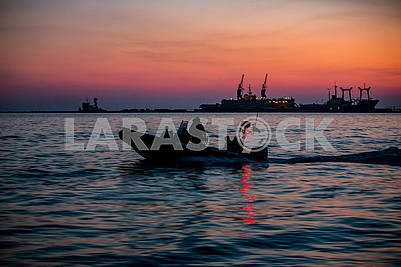 Boat in the Azov Sea