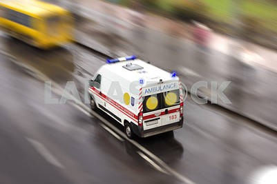 Ambulance in the city