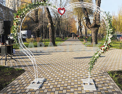 Arch with a heart