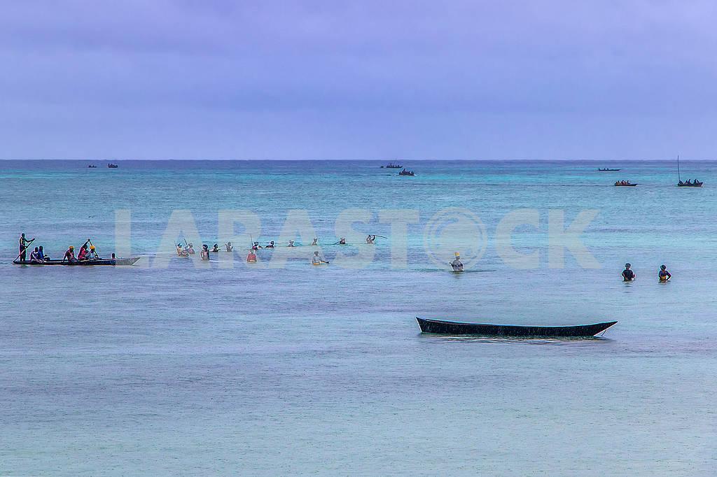 Лодка в Индийском океане — Изображение 65308