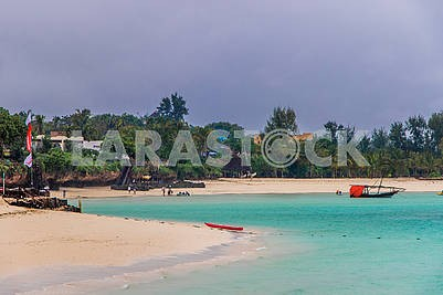 Beach on the shores of the Indian Ocean