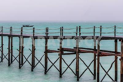 The pier in the ocean