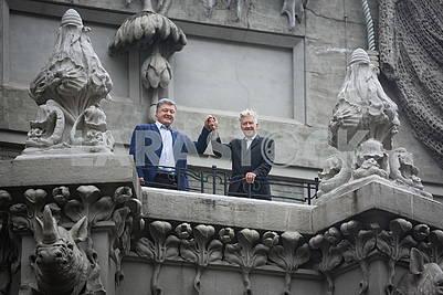 Petr Poroshenko and David Lynch