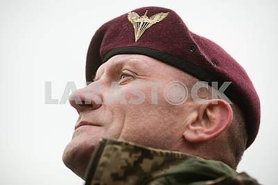 Paratrooper in beret