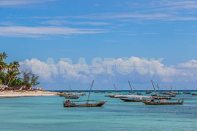 Fishing boats in the Indian Ocean ...