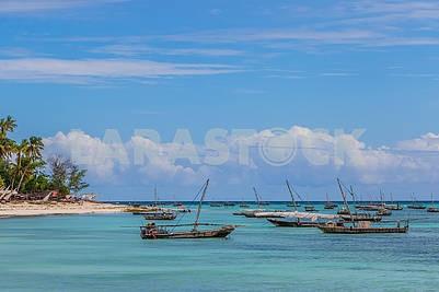 Рыбацкие лодки в Индийском океане...