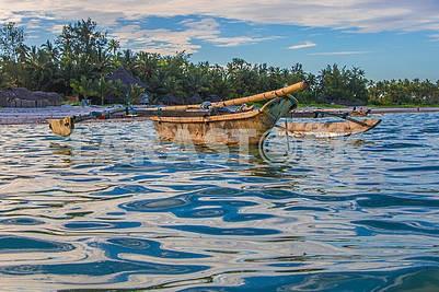 Boats in the ocean