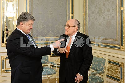 Petro Poroshenko and Rudolph  Giuliani