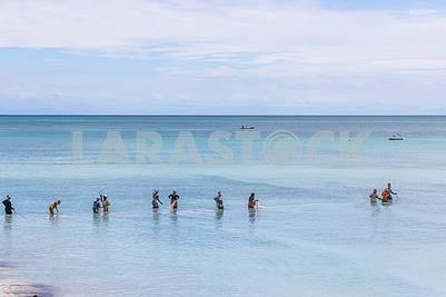 Fishermen Women in the Indian Ocean