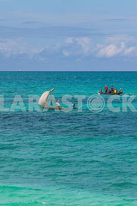 Fishing boats in the Indian Ocean