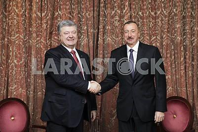 Petro Poroshenko and Ilham Aliyev