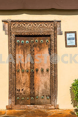 Carved doors in Zanzibar