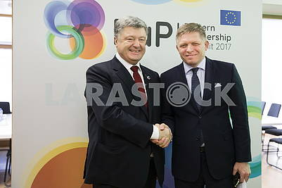 Petro Poroshenko and Robert Fico