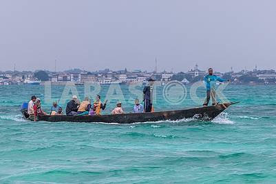 Fishermen in the Indian Ocean