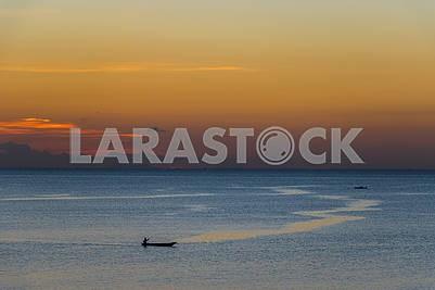 Boats at the coast of Zanzibar