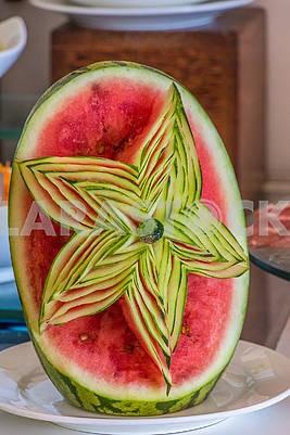 Pattern on a watermelon