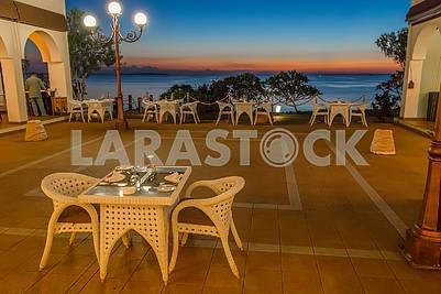 Ресторан на берегу океана