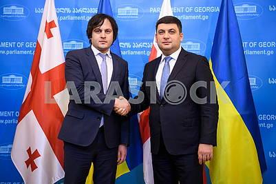 Ираклий Кобахидзе и Владимир Гройсман