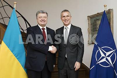 Petro Poroshenko, Jens Stoltenberg