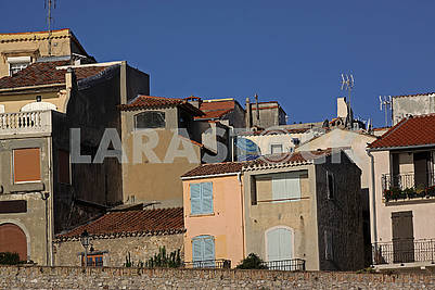 Apartment houses in Antibes. French riviera, Mediterranean sea