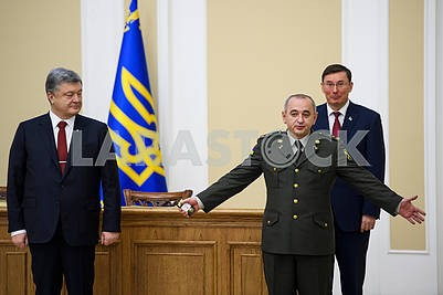 Petro Poroshenko, Anatoly Matios and Yuri Lutsenko