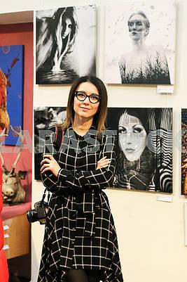 "Photo artist Julia Savenko at the Ukrainian Art Week presented a photo project ""The Flight for Freedom."""