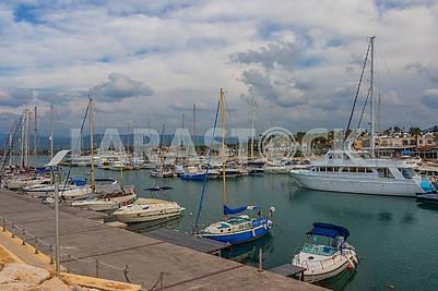 Boat station in Poly Chrisochus