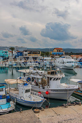 Boat station in Paphos