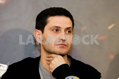 "The director of the film ""Cyborgs"", the Ukrainian and Crimean Tatar film actor, theater and film director, screenwriter Ahtem Seitablayev during the pre-premiere screening of the film ""Cyborgs"""