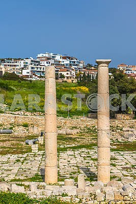 Columns of the ancient city of Amathus