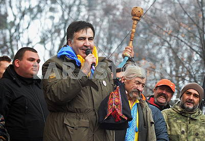 Mikheil Saakashvili in the Mariinsky Park