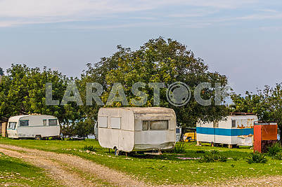 Tourist trailers in Cyprus