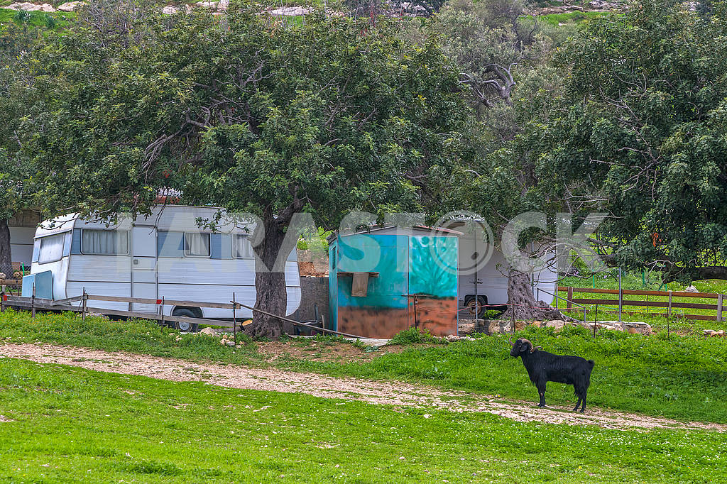 Trailers on the northern coast of Cyprus — Image 66243